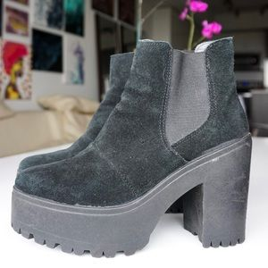 TopShop Suede Ankle Boots
